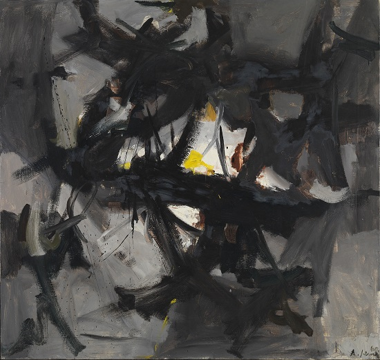 """In the Forest"" by Andre Jemec, 1960. Oil on canvas, 110 x 116 cm. Moderna galerija, Ljubljana. Courtesy Pollock-Krasner House and Study Center, Hamptons Art Hub"